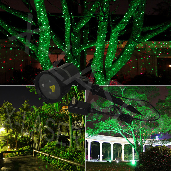 verde exterior proyectores lser de iluminacin paisaje decoracin de la navidad luz