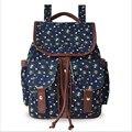 2017 New Women Canvas Backpacks Floral Printing Bolsas Mochila Feminina Girls School bag Large Travel Bag Femme Sac A Dos Toile
