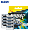 Gillette mach 3 hojas de afeitar para hombres de cuchillas de afeitar de afeitar shavor marca original con 8 cuchillas/pack