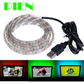 Waterproof 100cm 1m Led Strip Light ribbon with USB Cable Port 5V for  for Flat Screen HDTV LCD adhesive Tape Free shipping