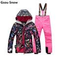 GSOU SNOW sale ski jackets women winter snowboard ski suit female snow suits veste mountain skiing chaqueta nieve mujer