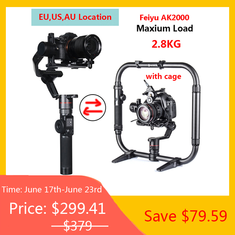 <font><b>FeiyuTech</b></font> <font><b>Feiyu</b></font> <font><b>A1000</b></font> 3 Axis Handled Gimbal Stabilizer for Sony a6500 a6300 GoPro Hero 5,<font><b>Feiyu</b></font> AK2000 Gimbal for Mirrorless DSLR image