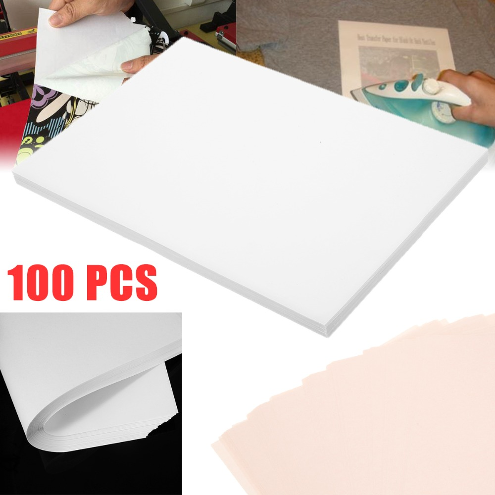 Nouveau 100 feuilles A4 Sublimation papier de transfert de chaleur pour Polyester coton T-Shirt coussin tissus tissu coque de téléphone conception d'impression