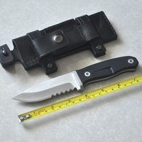 Fixed Camping Survival Knife ATS34 Blade Tactical Hunting Knives Portable Outdoor Tool Leather Sheath With Free