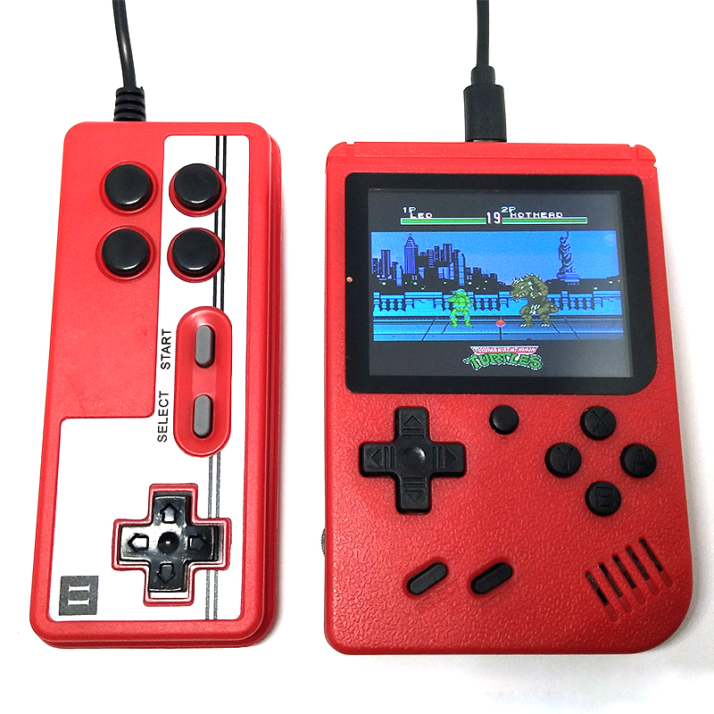 Built-in 400 Games Retro Video Handheld Game Console Gamepad 2 Players 1000mAh Battery 3.0 Inch Color LCD Game Player On TV