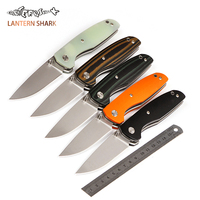 New Tactical Folding Knife D2 Steel Blade Black G10 Handle Outdoor Camping Survival Tool Hunting Tactical