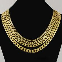 Высокое качество 24K золотые ожерелья ювелирные изделия цепь, мужские ожерелья