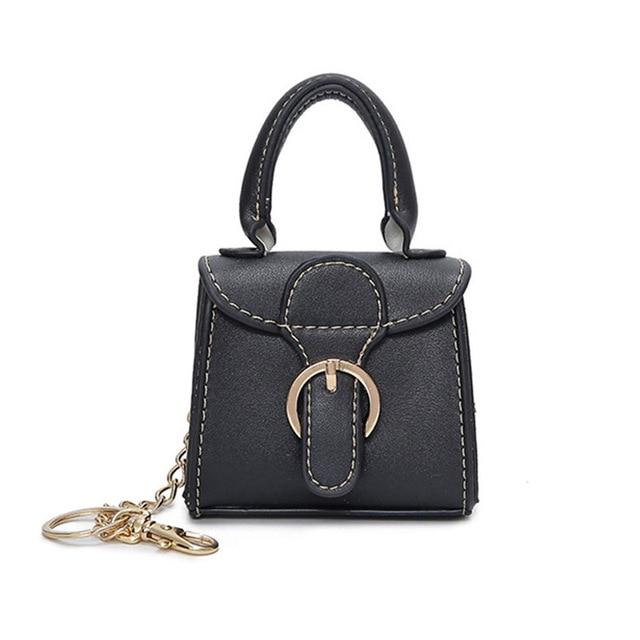 Women Small Mini Top Handle Handbag Tiny Pu Leather Bag Lady Vintage Style