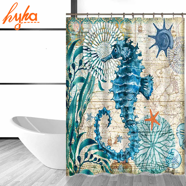 Under the sea turtle shower curtain
