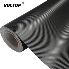 цена на 3D Carbon Fiber Vinyl Car Wrap Sheet Roll Film Car stickers and Decals Motorcycle Car Styling Accessories Automobiles