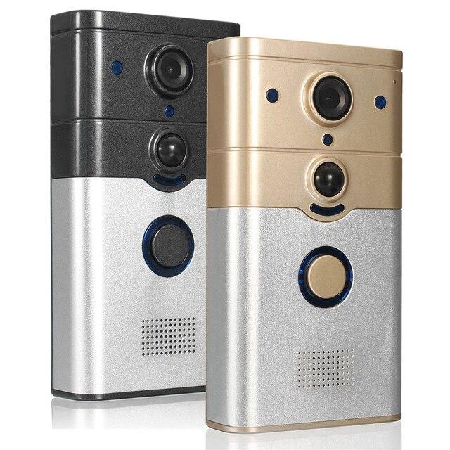 Draadloze Deurbel Met Camera.Safurance 720 P Hd Wifi Draadloze Deurbel Video Camera Telefoon Ring