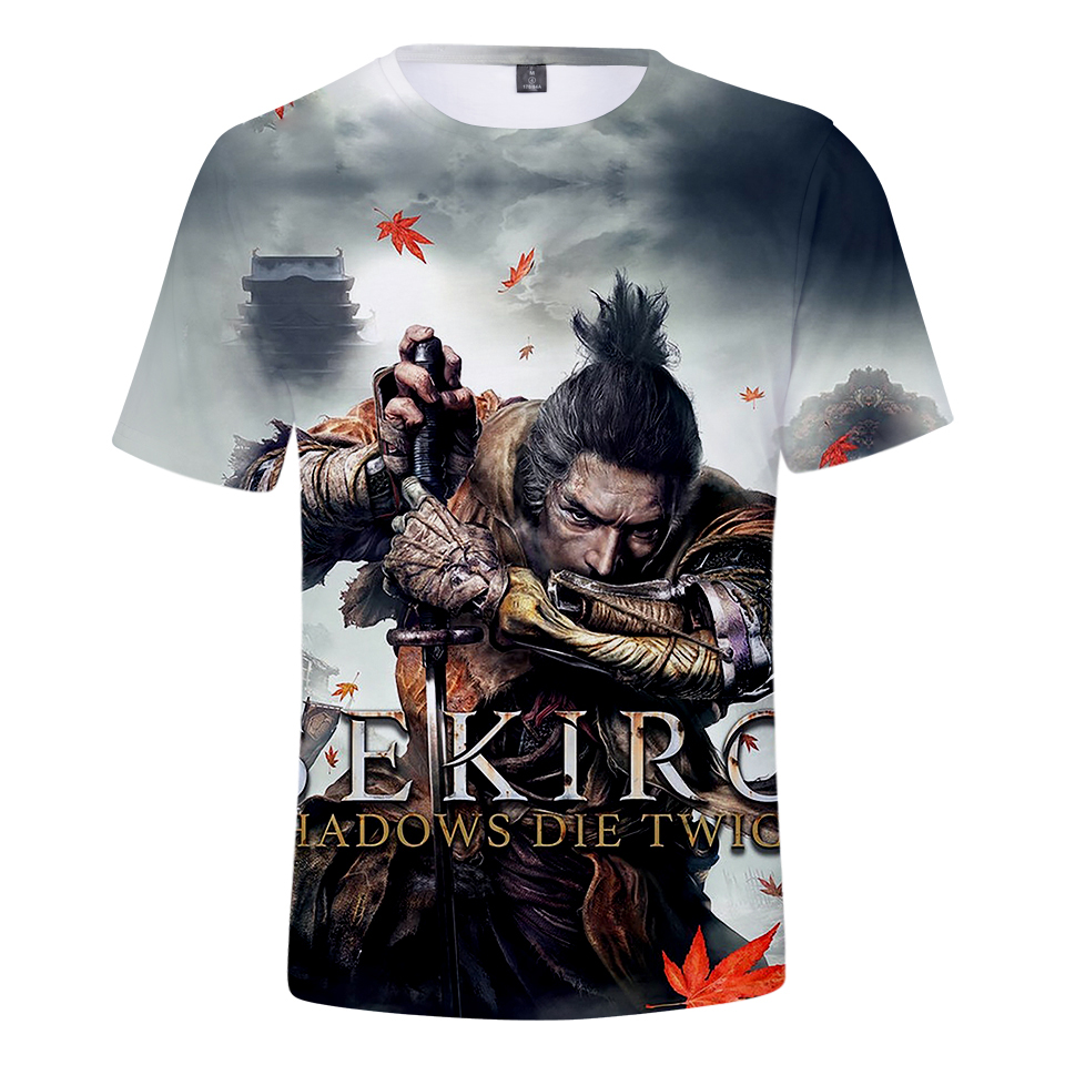 Men Women 2019 Troye Sekiro Shadow Die Twice 3D T-shirts Clothes Fashion Short Sleeves Summer T shirts Tops Tee