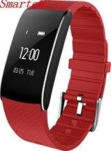 Smartch A86 сердечного ритма крови Давление часы Пульс монитор Smart Band фитнес-браслет трекер активности браслет ped