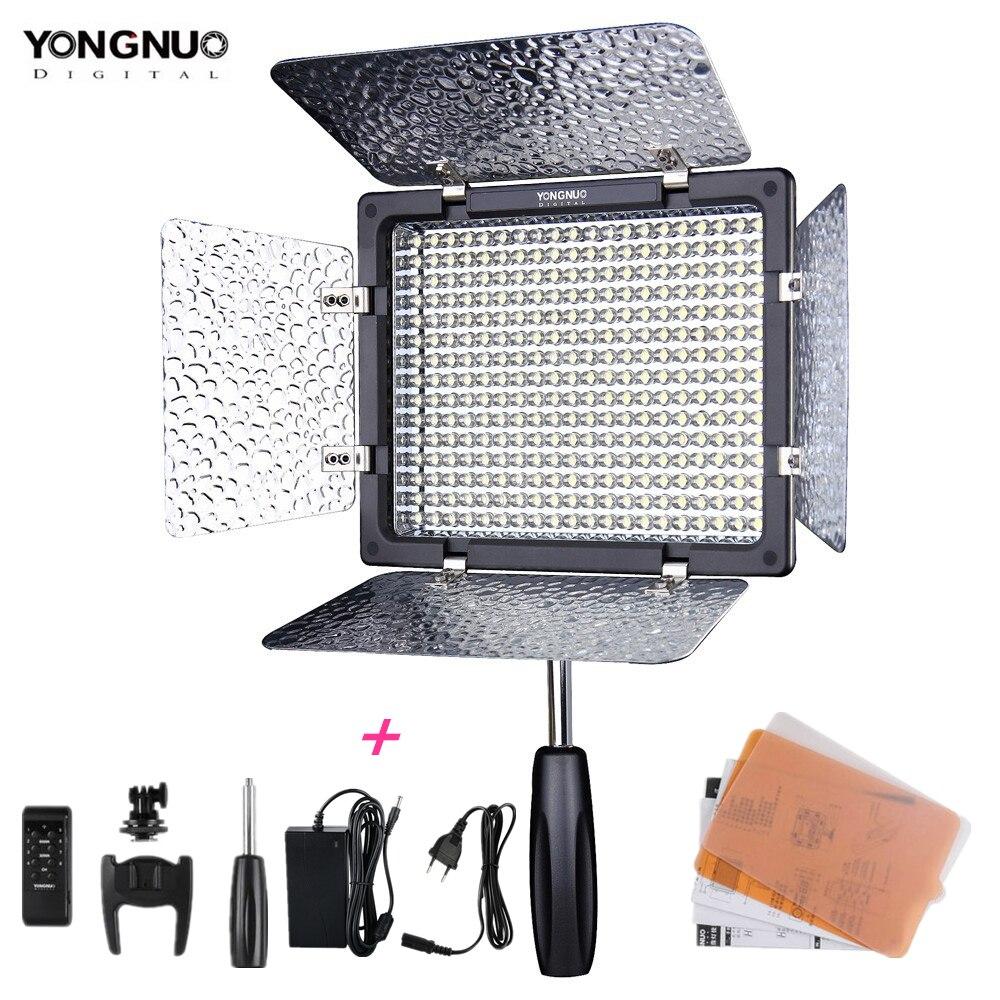 New Yongnuo YN300 III YN-300 lIl 3200k-5500K / 5500K CRI95 Camera Photo LED Video Light with AC Power Adapter цена 2017