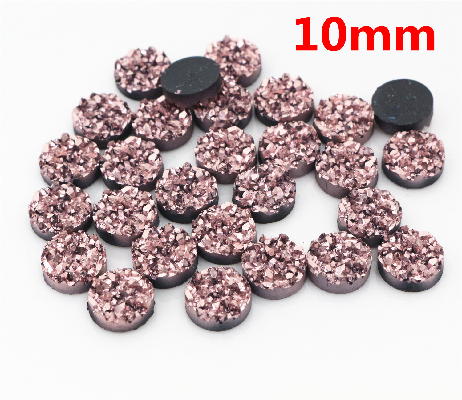 New Fashion 10mm 40pcs Rose Gold Colors Natural ore Style Flat back Resin Cabochons For Bracelet Earrings accessories T3-13New Fashion 10mm 40pcs Rose Gold Colors Natural ore Style Flat back Resin Cabochons For Bracelet Earrings accessories T3-13