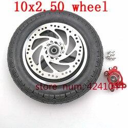 Бесплатная доставка 10X2.50 шина внутренняя труба и диски и тормозной диск задний тормозной суппорт насос для электрического скутера 10 дюймов ...