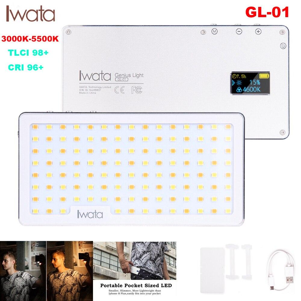 Iwata Ultra Mince En Aluminium Dimmable O LED Affichage 117 pièces LED Vidéo Lumière avec Batterie CRI96 + Bicolore pour les Reflex Numériques PK Aputure AL MX-in Éclairage photographique from Electronique    1