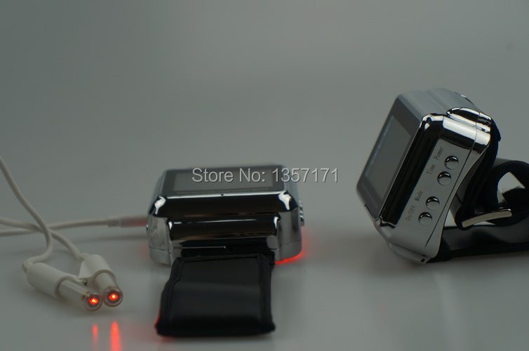 Low level laser therapy device to reduce the high blood viscosity and high blood pressure high quantity medicine detection type blood and marrow test slides