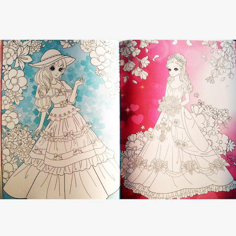 A4 Tamaño Kawaii Princesas Para Colorear Libros Para Niños Conjunto De 4 Pintura Libros Para Chicas Jóvenes Niñosadultos Actividad Libros