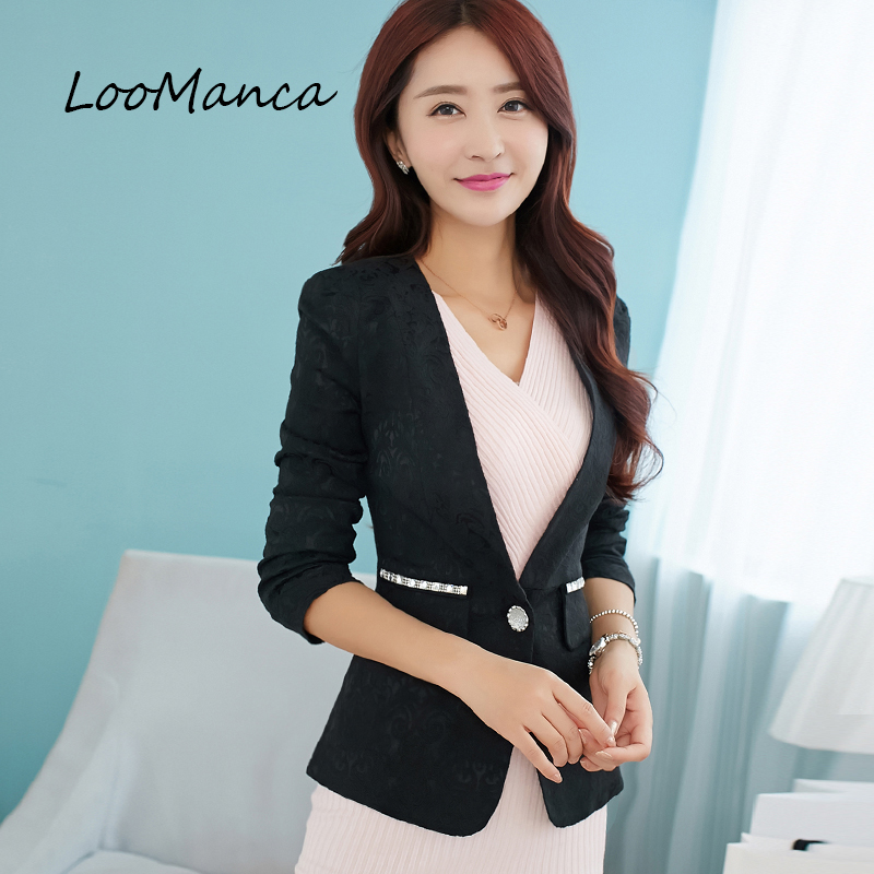 Elegant Women Blazers And Jackets 2018 New Black Yellow Blue Long Sleeve Blazer Mujer Coat Female BlaSer Feminino