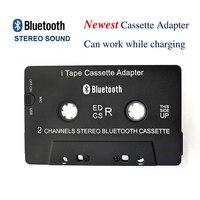 Горячая 3-го поколения Беспроводной iTape CSR V4.0 + EDR Bluetooth Кассетный адаптер работает во время зарядки стерео аудио приемник для автомобиля прои...