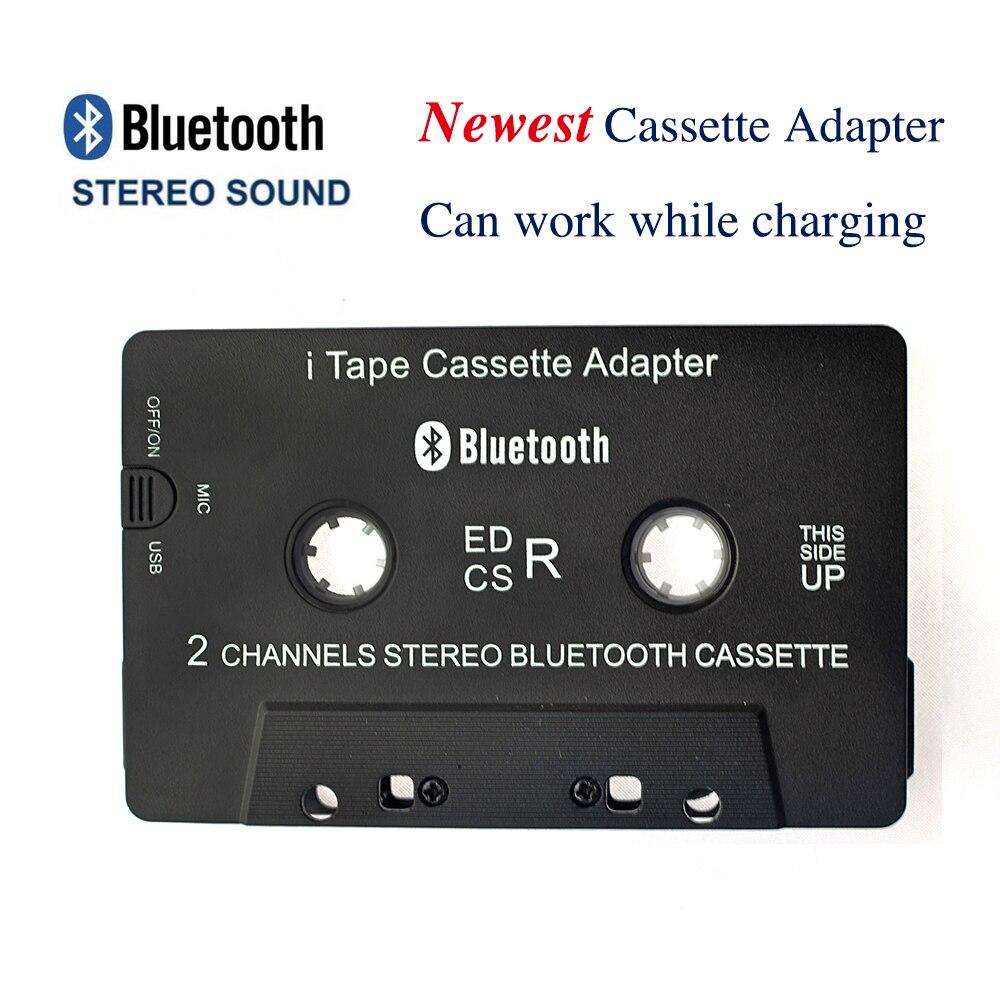 Adaptateur de Cassette Bluetooth 3 rd Gen sans fil iTape CSR V4.0 + EDR fonctionne tout en chargeant le récepteur Audio stéréo pour lecteur de voiture