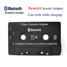 Hot 3rd Gen Wireless iTape CSR V4.0+EDR Bluetooth Cassette Adapter work while charging Stereo Audio Receiver for Car Deck Player