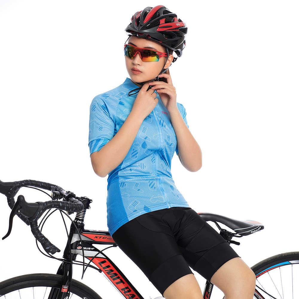 נשים של רכיבה על אופניים ג 'רזי סט קצר אופניים בגדי 2018 mtb אופני בגדים פרו טריאתלון חליפת skinsuit שמלת ספורט ערכת