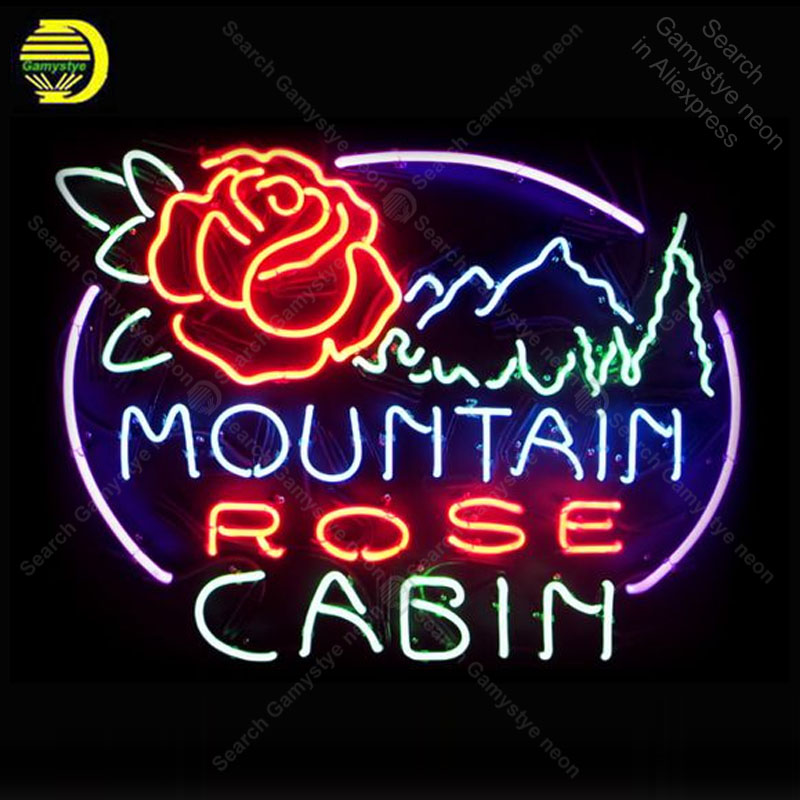 Rose Cabin with Mountain NEON SIGN REAL GLASS Tubes BEER BAR PUB Sign LIGHT SIGN STORE DISPLAY ADVERTISING LIGHTS lamp for saleRose Cabin with Mountain NEON SIGN REAL GLASS Tubes BEER BAR PUB Sign LIGHT SIGN STORE DISPLAY ADVERTISING LIGHTS lamp for sale