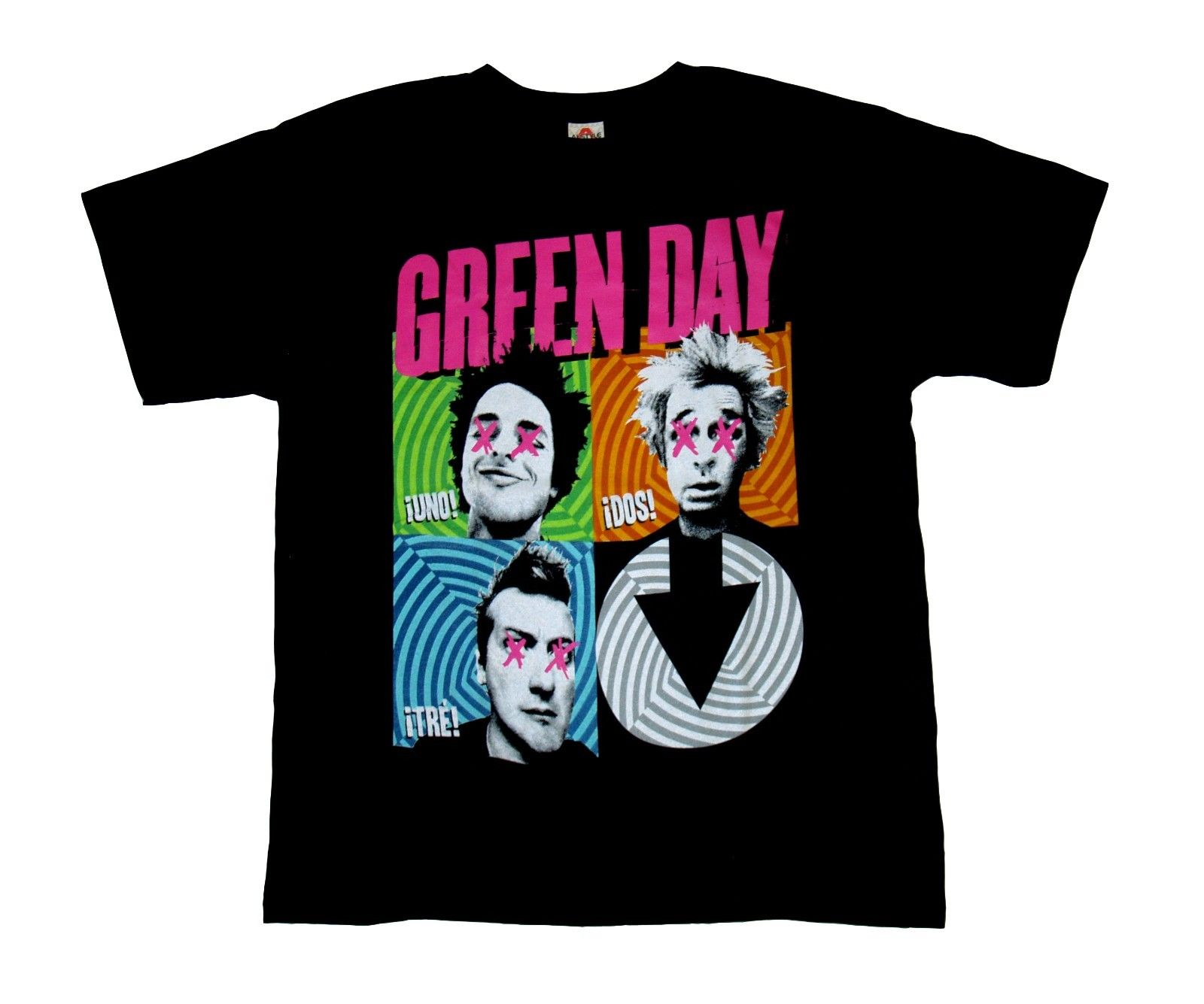 GREEN DAY - Faces - t shirt S,M,L,XL,2XL Brand New Official Merchandise