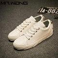 Luz baixa Tênis de alta Qualidade Homens Moda Casual sapatos de couro flats Sapatos Sapatos de Lona Respirável Dos Homens Branco preto BB-42