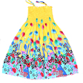 Estilo do verão Flor Meninas Vestem Vestido Boêmio Para Meninas Vestido de Princesa Vestidos Para Meninas Vestidos Infantis de Algodão de Praia Floral
