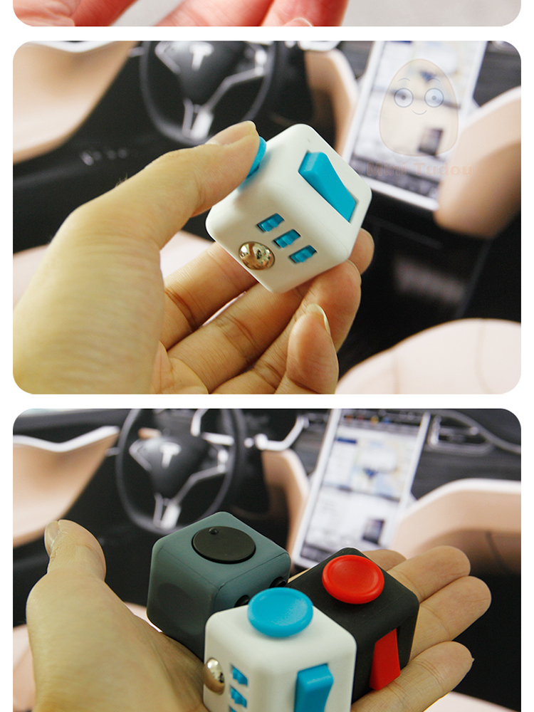 %name 3CM Anti Stress Cube Antistress Fidget Toys 11 Colors Anxiety Reliever