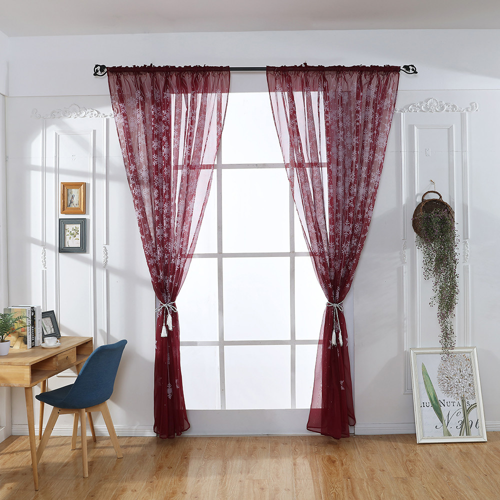 100X200CM Tulle Door Window Curtain Drape Panel Sheer Scarf Valances Modern /_V