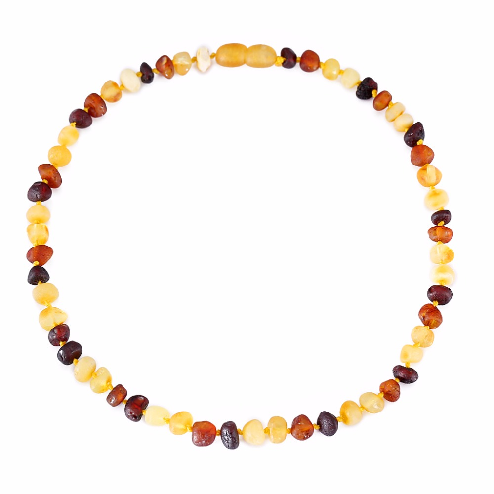 [DROPSHIP]Baltic Amber Teething Necklace/Bracelet for Baby - Simple Package - 3 Sizes - 4 Colors