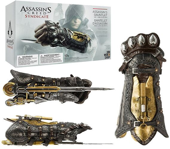ФОТО Assassin's Creed Action Figures Weapon Syndicate Gauntlet With Hidden Blace 1:1 PVC Anime Game Assassin Creed Model Toys
