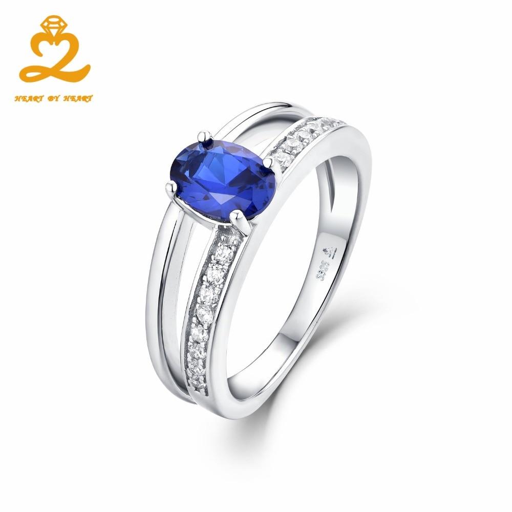 Heart By Heart Luxury Spinel Stone 925 Silver Ring For Women Men Love Gift  Elegant Costume Jewelry Love Wedding Sapphire Rings