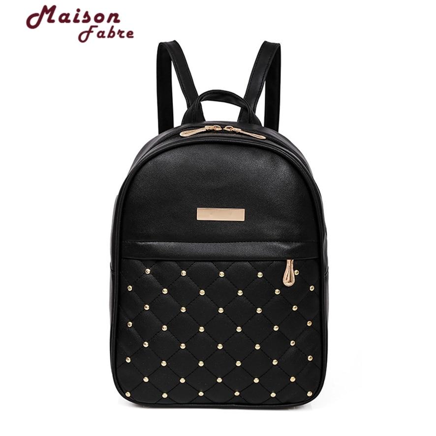 women leather backpack teenage backpacks for girls vintage feminine backpack sac a dos femme laptop backpack 1012#23