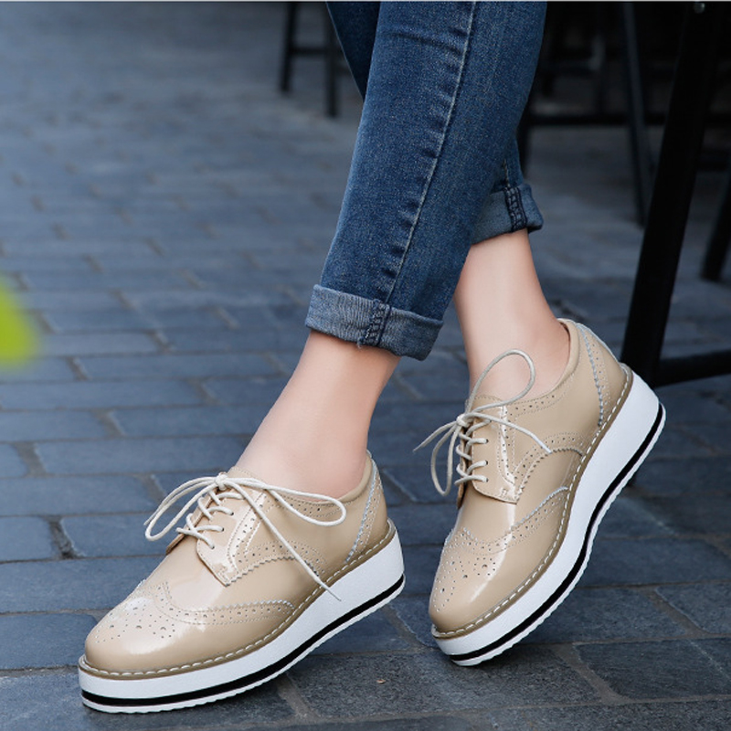 New 2018 spring Women flats height increasing high quality spring flat platform shoes fashion leather women sneakers asds 2017 new fashion high quality vintage women flat shoes women flats and women s spring summer autumn shoes