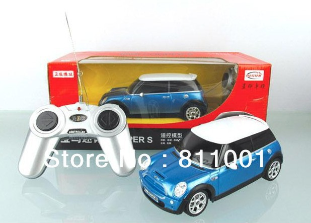 3pcslot free shipping new kids toys 124 scale remote control car medium mini cooper rc cars radio car unique toys