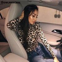 OWLPRINCESS New Turtleneck Leopard Sexy Bodysuit Long Sleeve Body Women Streetwear Warm Winter Overalls For Women Body Femme