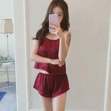 Summer Shorts Sleepwear Sets Camis Top + Shorts Pajamas Spag