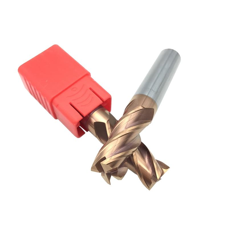 10 個 8 ミリメートルエンドミル HRC60 4F D8x60L 4 フルート 3f 2f cnc 超硬カッターツールフライスルータービット  グループ上の ツール からの フライスカッター の中 2