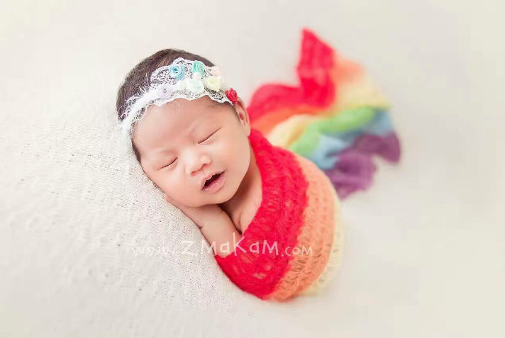 Crochet Mohair Wrap Handmade Knitted Baby Blanket Newborn Baby Wraps