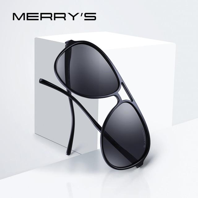 MERRYS дизайн для мужчин Классические Pilot, поляризационные солнцезащитные очки для женщин легче рамки 100% УФ Защита S8510