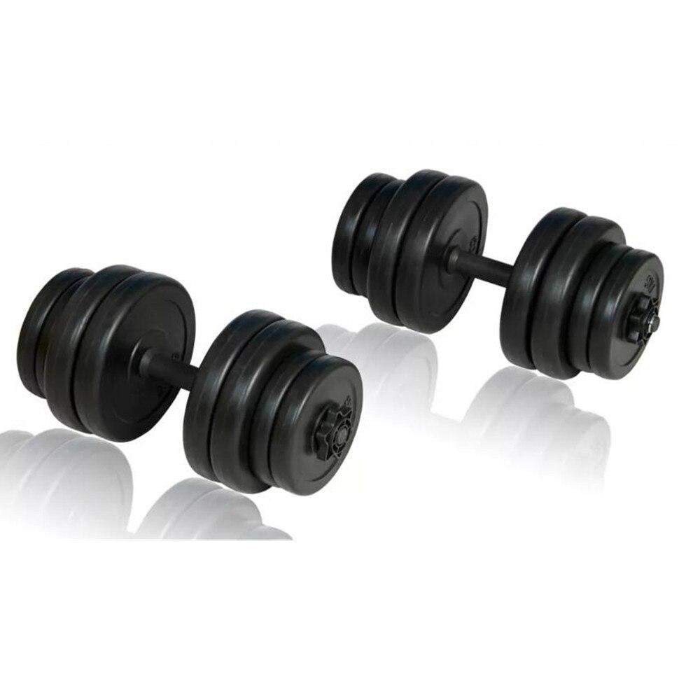 VidaXL haltères 30 kg muscles entraînements bras exercices sécurité efficace musculation équipements de Fitness musculation