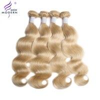 Modern Show Brazilian Body Wave Non Remy human Hair Weft 1 3 4 PC #613 long blonde Human Hair Weave hair Bundles 1 3 4 Bundles