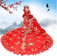 Элегантные Продольный королевский королева наряд Древние китайские Тан династии Мин костюм принцессы Фея Сценический платье сучжоуская в