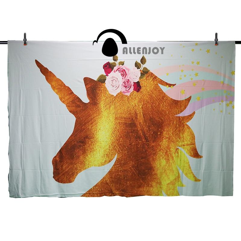 Allenjoy fotoğraf arka plan unicorn backdrop doğum günü arka plan - Kamera ve Fotoğraf - Fotoğraf 2