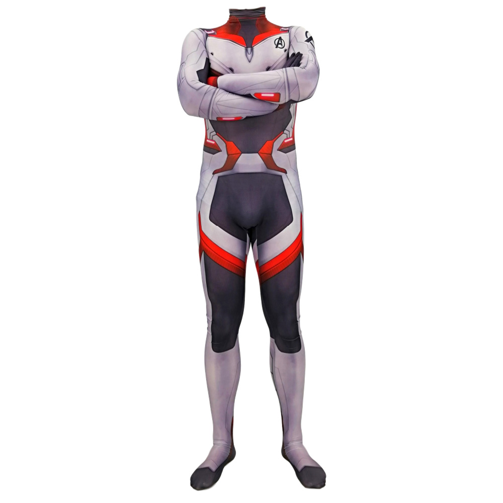 2019 Avengers Endgame Quantum Realm Kostuum Advanced Tech Cosplay Costume 3D Print Spandex Lycra Zentai For Kids Adult Bodysuit in Movie TV costumes from Novelty Special Use